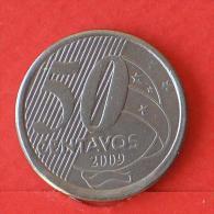 BRAZIL  50  CENTAVOS  2009   KM# 651a  -    (Nº02930) - Brésil