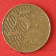 BRAZIL  25  CENTAVOS  2002   KM# 650  -    (Nº02934) - Brésil