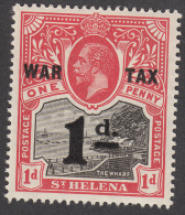 St Helena 1919  1d  War Tax  SG88  MH - Saint Helena Island
