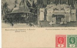 Kiribati Missionshaus Der Schwertern In Butaritari Gilbert Is. Mint 2 Stamps Gilbert Ellice - Kiribati
