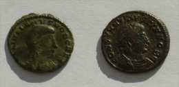 Old ROMAN Empire Coins, 2 Pcs, Ca 300 A.D. - 7. The Christian Empire (307 AD To 363 AD)