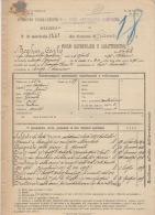 ^POLESINE BORGO SAN DONNINO SECONDO PARMENSE ARTIGLIERIA CAMPAGNA BOCCHIA PARMA FOGLIO MATRICOLARE DOCUMENTO MILITARE 20 - Historical Documents