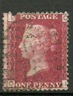UK  Grande Bretagne  Victoria 1d Rouge SG 43-4    Plate 99, Lettres O - I - 1840-1901 (Viktoria)