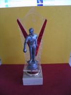 Trophée De Pétanque, Sculpture De 24 Cm Ht -Trophy Bowls, Sculpture 24 Cm Ht - Bocce