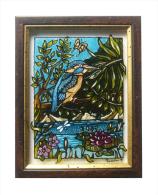 Martin Pescatore - Dipinto Su Vetro - Artista Tiziana Pantalone - Other