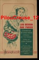 """87 Haute Vienne - LIMOGES - PARTITION - """" CHANSOUS DE CHAZ NOUS """" Edit. Labo Vétérianaires CASTAGNE - Musique Folklorique"""