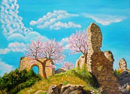 Castello Diroccato - Artista Tiziana Pantalone - Huiles
