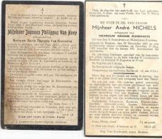 BETEKOM-BEGIJNENDIJK-2 DOODSPRENTJES-PHILIPPUS VAN HOEY-1913-ANDRE MICHIELS-1949-ZIE 2 SCANS! ! ! - Images Religieuses