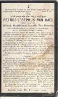 RILLAER-RILLAAR-NIEUW-RODE-DOODSPRENTJE-PETRUS-JOSEPHUS-VAN BAEL-° RILLAAR 17.05.1829-+25.01.1917-ZIE 2 SCANS! ! ! - Andachtsbilder