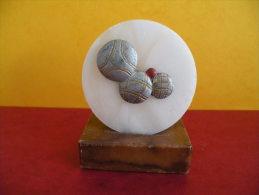 Trophée De Pétanque, Sculpture De 8,5 Cm Ht -Trophy Bowls, Sculpture 8,5 Cm Ht - Bocce