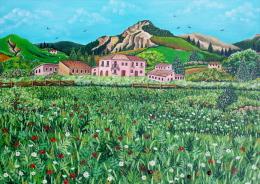 Paesaggio Campestre - Artista Tiziana Pantalone - Acrilici