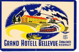 ETIQUETTE HOTEL - NORVEGE - GRAND HOTELL BELLEVUE - ANDALSNES NORWAY - Hotel Labels