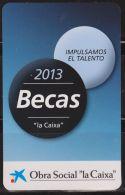 Calendario Bolsillo La Caixa 2013 Becas Pocket Calendar Kalender Calendrier Kalendar - Calendarios