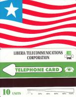 LIBERIA - Liberian Flag, First Issue 10 Units, Mint