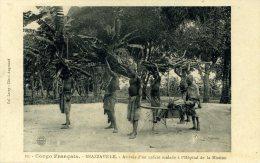 6399 -    Enfant Malade Sur Un Brancard Improvisé Qui Arrive à L'hopital De La Mission à Brazzaville - Brazzaville