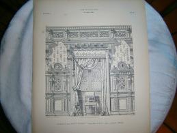 PLANCHE L ART ET L INDUSTRIE DECORATION DE PAROI MURALE ET DE FENETRE  ANNEE 1886 - Other Plans