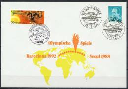 South Korea /Spain 1986/88 Olympic Games Seoul Commemorative Cover - Zomer 1988: Seoel