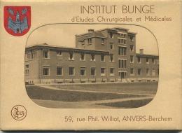 Berchem : Institut BUNGE : D'etudes Chirurgicales Et Médicales  (  CARNET  Met  9  Postkaarten Groot Formaat ) - Belgique