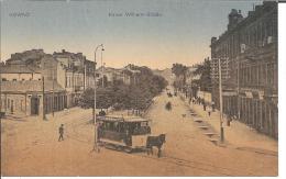 Lit026/ Kowno 1915, Kaiser Wilhelmstrasse Mit Pferdebahn (ungebraucht) - Lituanie