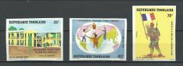 "Togo YT 1087 à 1089 ND "" Visite Pdt Mitterrand "" 1982 Neuf** - Togo (1960-...)"