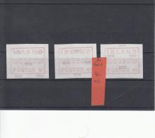 IJsland Automaatzegel 1(3x)** - Vignettes D'affranchissement (Frama)