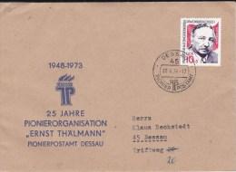1974 DDR. EF. INTERESSANTER Brief Dessau. MK - Covers