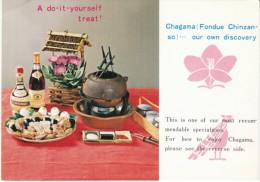 Japanese Fondue Product Chagama Pot, Chinzan-so Store Tokyo Japan On C1950s/60s Card - Advertising