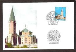 Church Estonia 2009  Stamp Maxicard Alexander Church Of Narva, 125th Anniversary Privare Issue RARE - Estland