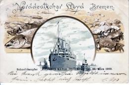 Germany  U.S.- German  SEA  Post  LLOYD  BREMAN  1900  To U.S. - Germany