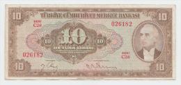 Turkey 10 Lira 1930 (15-9- 1948) VF+ P 148 - Turkey