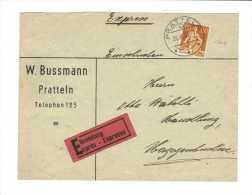 Suisse // Lettre Exprès Pour Herzogenbuchsee Le 26.19,1935 - Lettres & Documents