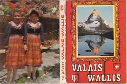 Petit Dépliant  De 11 Photos Du Valais - 10 X 7 Cms. - Reproductions