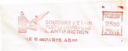 France, EMA, Soudure D´étain, Imprimerie - Marcophilie (Lettres)