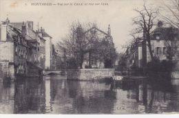 Cp , 45 , MONTARGIS , Vue Sur Le Canal Et Rue De L'Eau - Montargis
