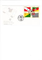 BRASILE  1985 - FDC - Yvert  1778/81 - Bandiere  Stati Del Brasile - FDC