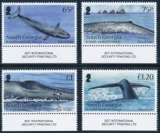 SOUTH GEORGIA & SOUTH SANDWICH ISLANDS 2012, Antarctic Blue Whale Set Of 4v** - Antarctic Wildlife