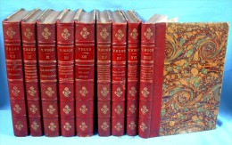 VICTOR HUGO :  9 Beaux Volumes Illustrés Du XIXè Siècle /  Éditions De La Librairie Du Victor Hugo Illustré, à Paris - 1801-1900