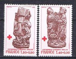 Au Profit De La Croix Rouge N°2116 &  2117 - Unused Stamps