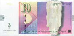 Macedonia,10 Denari,12.2011,P.14, Two Banknotes Consecutive Serial No.,UNC,signet Governer:Bogov,as Scan - Macedonia