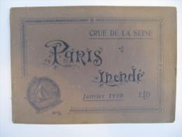 PARIS INONDE - Crue De La Seine Janvier 1910 - Brochure N°2 De 16 Vues Pleine Page - ELD éditeur - Photographie