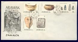 DV8-31a JAMAICA 1979 FDC ARAWAK ARTIFACTS, ARCHEOLOGY, ARCHEOLOGIE. - Archeologie