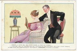 Art Deco  Pub Urodonal  Homme Age Mur Faisant La Cour A Une Jeunette Grace A Urodonal - Santé