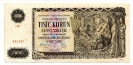 "Slovaquie Slovakia 1.000 Korun 1940 """" SPECIMEN """" - Slovaquie"