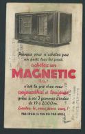 Buvard. Publicité Radio Magnetic.  Oubler, Bruxelles. - Vloeipapier