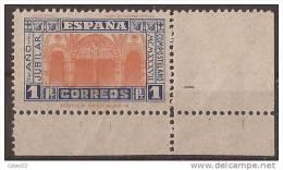 ES835-LA048TARES.España . Spain.Espagne.AÑO   JUBILAR  COMPOSTELANO.1937.(Ed 835**()sin Charnela.MAGNIFICO - Escultura