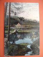 """(3/3/68) AK """"Wolkenburg A. Mulde"""" Hängebrücke, Um 1909 - Deutschland"""