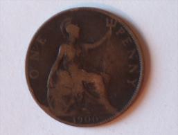 Grande-Bretagne 1 Penny 1900 - 1816-1901 : Frappes XIX° S.