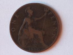 Grande-Bretagne 1 Penny 1900 A - 1816-1901 : Frappes XIX° S.
