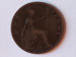 Grande-Bretagne 1 Penny 1901 A - 1816-1901 : Frappes XIX° S.