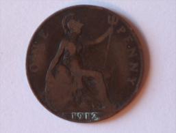 Grande-Bretagne 1 Penny 1912 H - 1902-1971 : Monnaies Post-Victoriennes